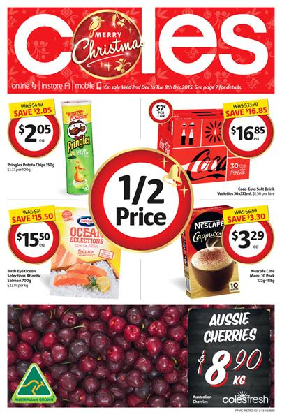 Coles Catalogue Christmas Products December 2015